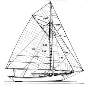 37-foot triple-headsail sloop