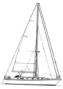 42-foot sloop drawing