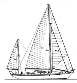 52-foot yawl drawing