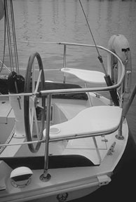 Two seats on the aft rail