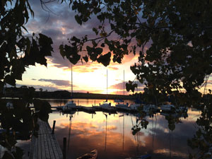 Sunrise at Branched Oak Marina
